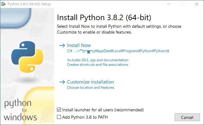 pythonインストール1